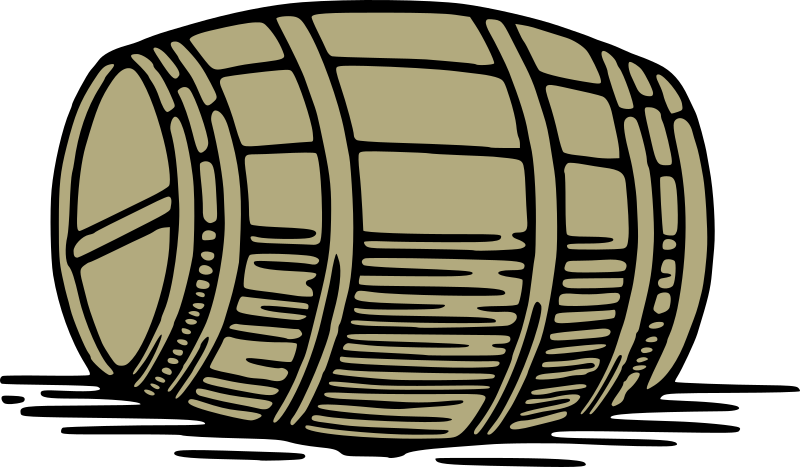 Large barrel by liftarn - A large barrel in vintage style.