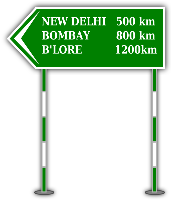 Sign Board by gsagri04 - Sample Sign board for distance.
