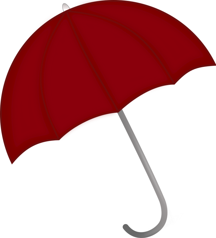 Red Umbrella by pixabella - A red Umbrella can brighten up a rainy day.
