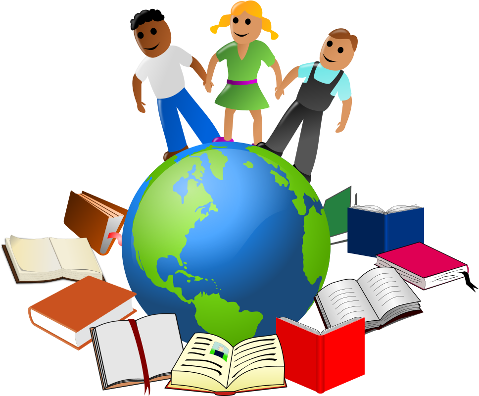 Stories of the World by eady - clip art, clipart, diversity, ethnic, global, literature, many, nations, peoples, stories, world,