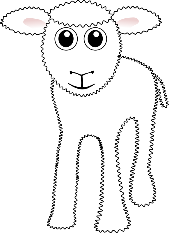 "Funny White Lamb Cartoon by palomaironique - Funny White Lamb Cartoon - Drôle de petit agneau blanc - Lustige Lamm weiss - Agnello bianco divertente (partially remixed from ""Martouf"" work)"