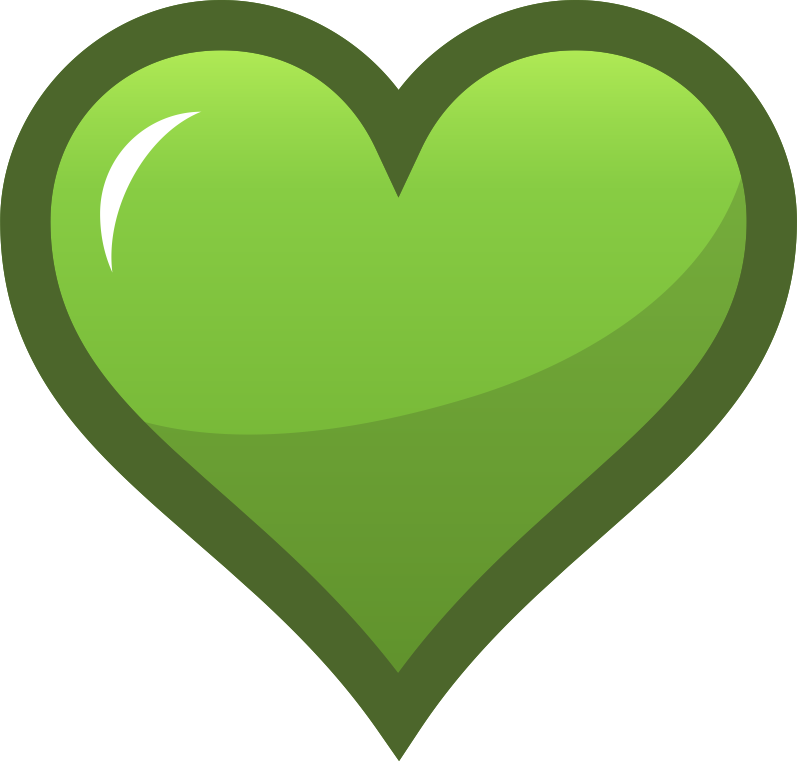"Green Heart Icon by pianoBrad - A heart icon, useful for sites in need of a favorites system. Specifically, this could be used to indicate an item that has already been ""favorited""."