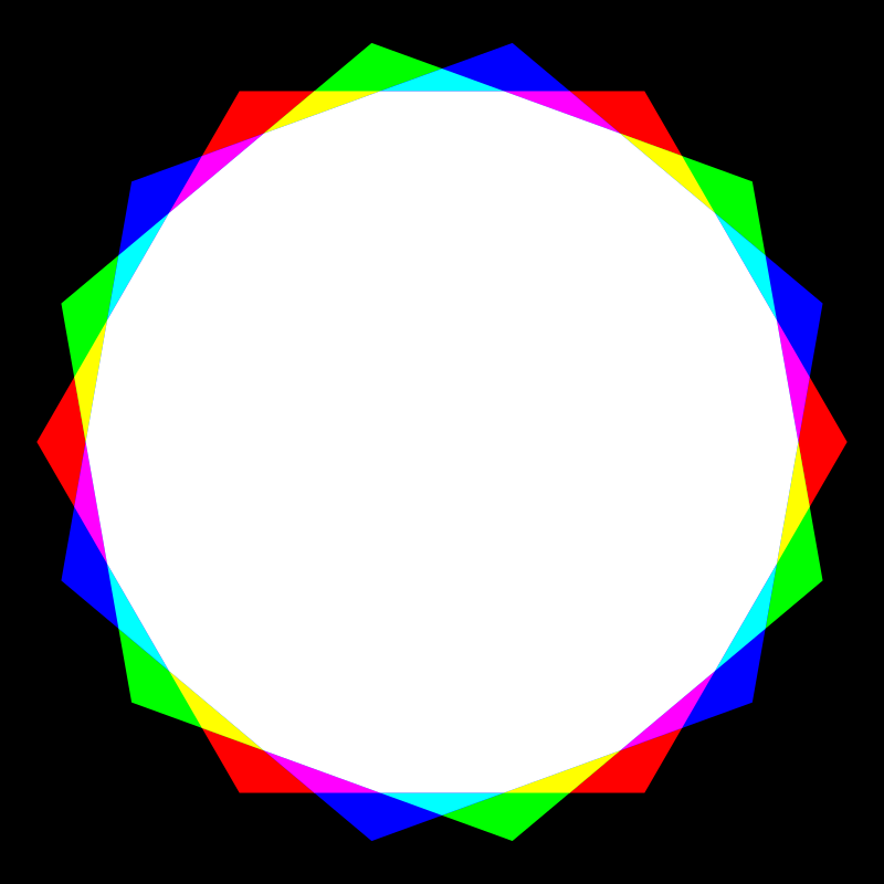 octadecagon rgb mix by 10binary