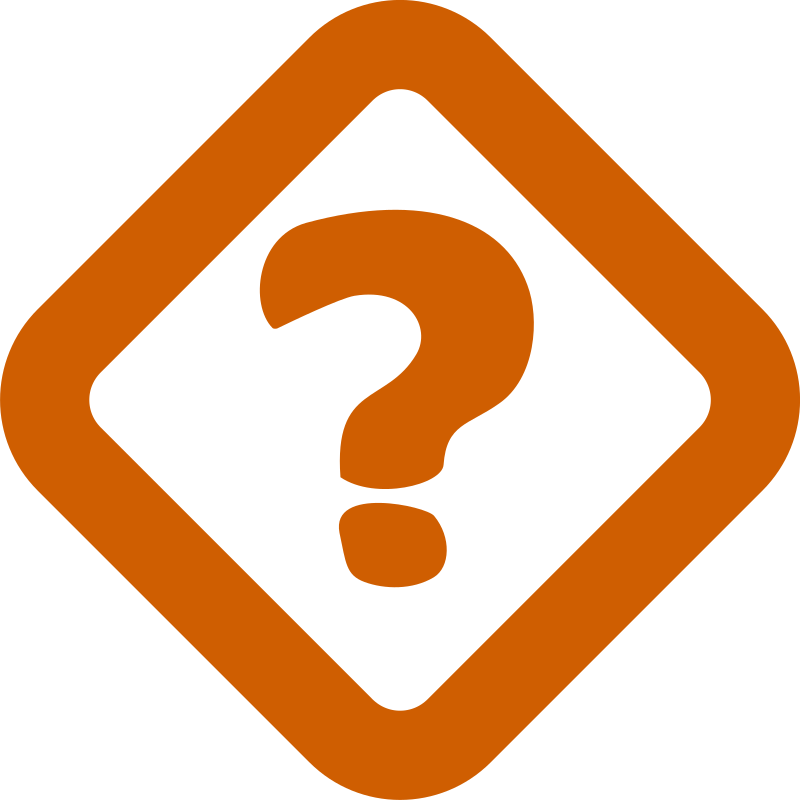 Clipart - Simple question sign