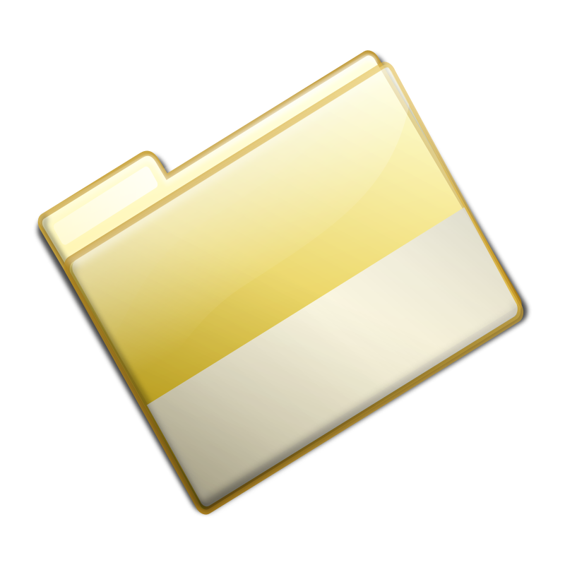 Closed Simple Yellow Folder by sarxos - Just closed folder