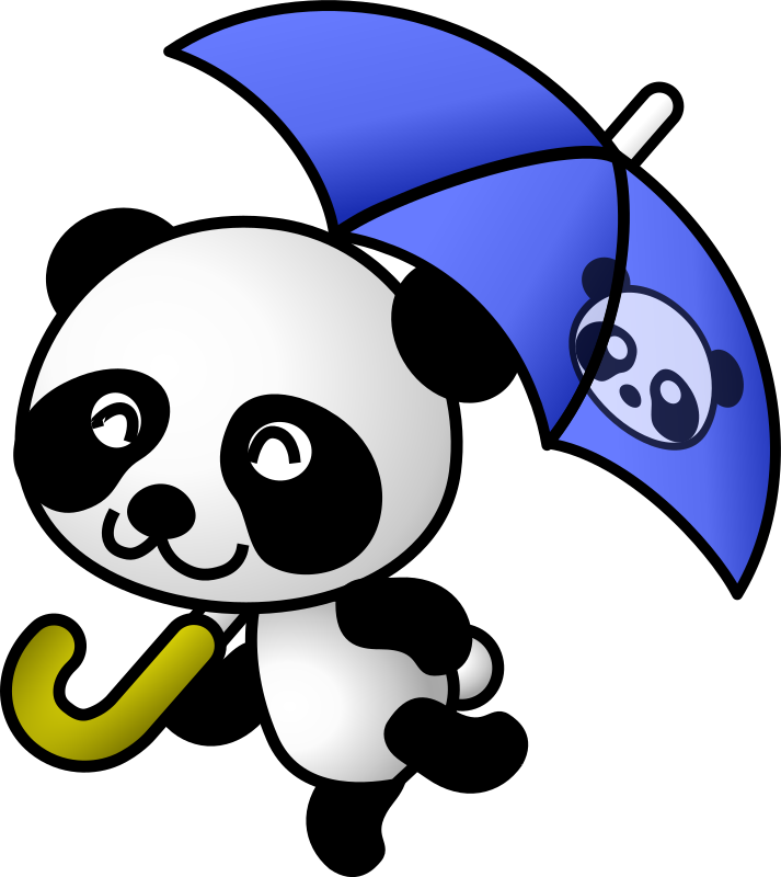 umbrella panda by shu