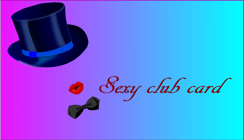sexy club card by pauthonic