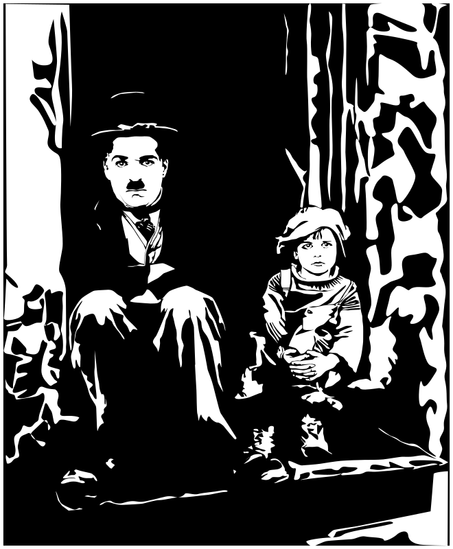 Charlie Chaplin - The Kid by pesasa - Charlie Chaplin - The Kid -movie poster