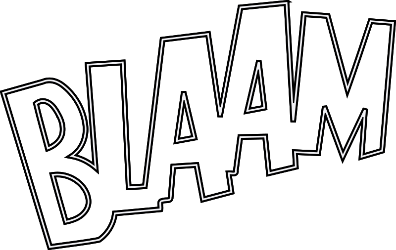 BLAAM outlined by dominiquechappard - a remix from an oldest clipart.