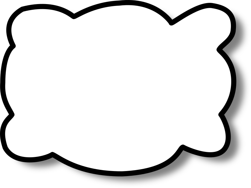 Callout cloud by nicubunu - A cloud shaped speech bubble