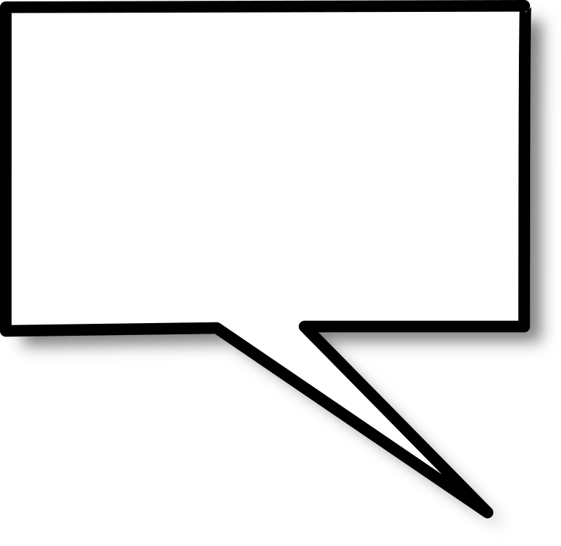 Callout rectangle right by nicubunu - A rectangular speech bubble