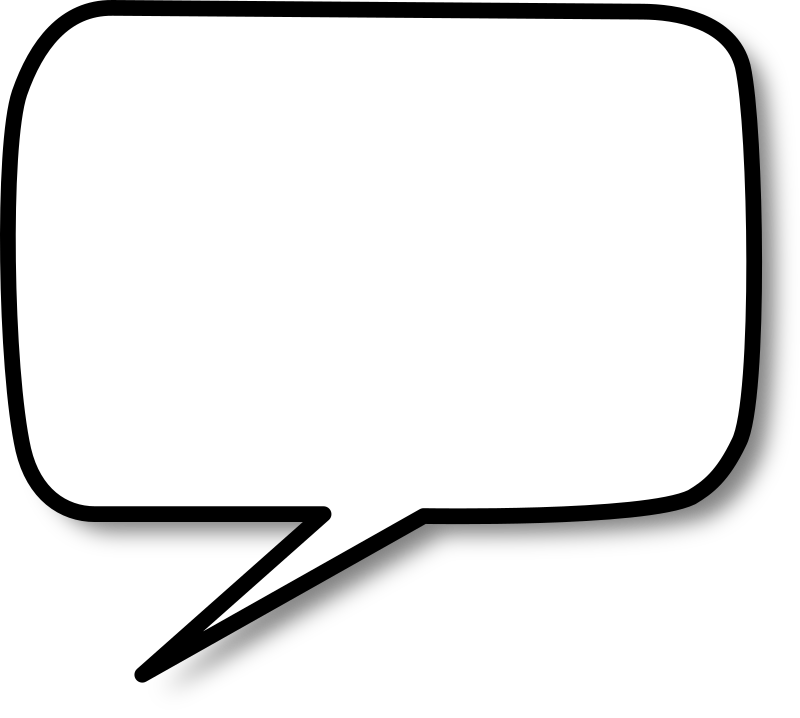 Callout rounded rectangle left by nicubunu - A rounded rectangle shaped speech bubble