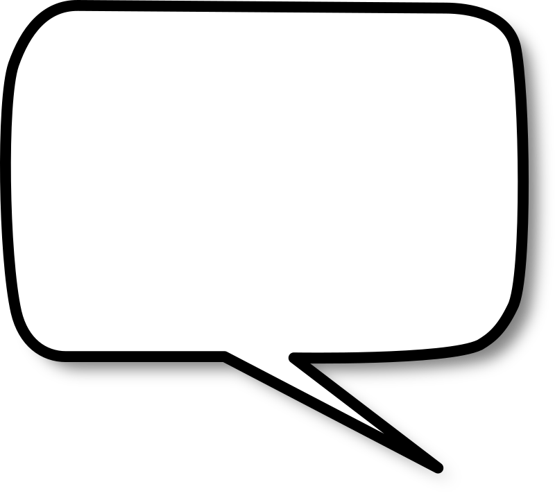 Callout rounded rectangle right by nicubunu - A rounded rectangle shaped speech bubble
