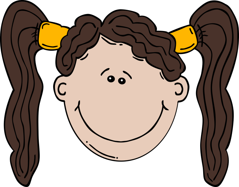"Girl Face Cartoon by Gerald_G - Uploaded by ""World Label"" for conversion to SVG and publication on OCAL."
