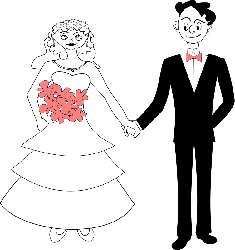 Line Art With Mr E : Clipart bride and groom