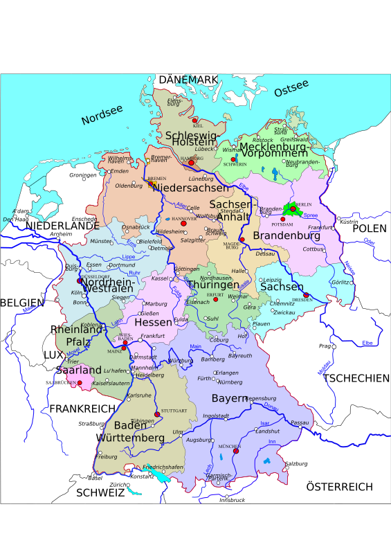 Political map of Germany 2 by Helm42 - Updated Version
