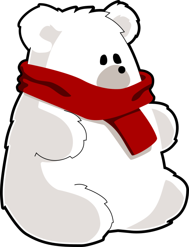 bear with red scarf by tzunghaor