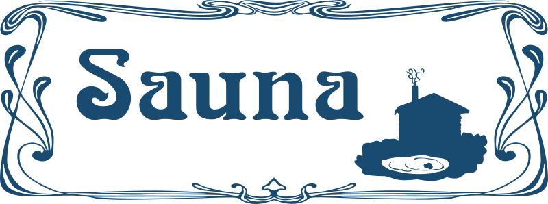 Sauna Sign by Moini - Sign for a sauna to be attached to a door, part of a series