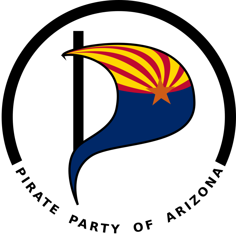 Pirate Party of Arizona logo by Lalitpatanpur - The party strives to reform laws regarding copyright and patents. The agenda also includes support for a strengthe
