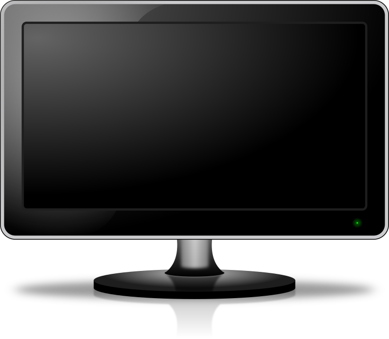 Monitor screen by easy - An LCD monitor created in Inkscape 0.48 under Linux Mint Debian.