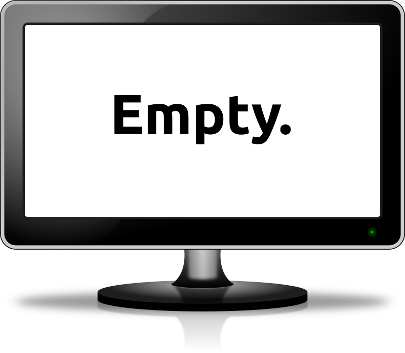 Empty monitor by easy - An LCD monitor created in Inkscape 0.48 under Linux Mint Debian.
