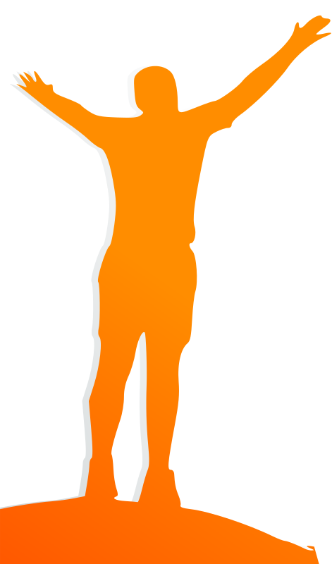 Celebrating Orange Man by cliparteles - A man celebrating