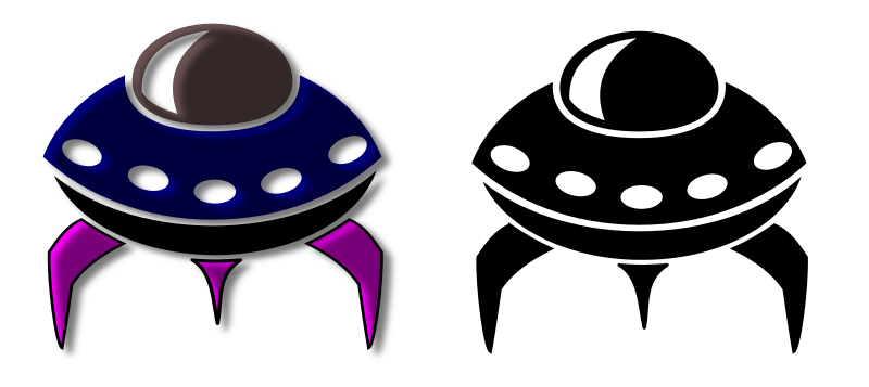 Alien Spaceship Icon by marauder - a spaceship icon made in 3,5 minutes with inkscape