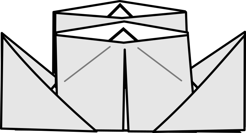 Origami Steamer by Tavin - An Image of the Origami Steamer, which I drew for a diagram