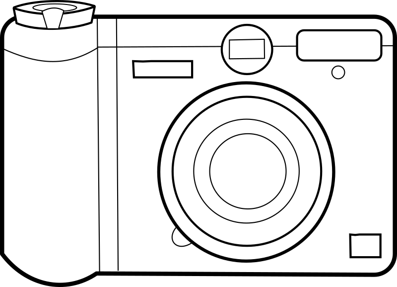Camera by lmproulx - A line art of a camera