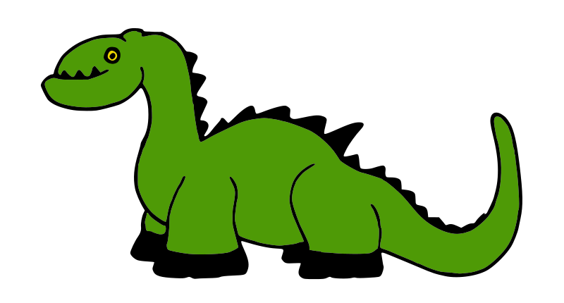Platypuscove Dinosaur 001A by molumen - Redrawn dinosaur. The original image contained an embedded image and was poorly traced.