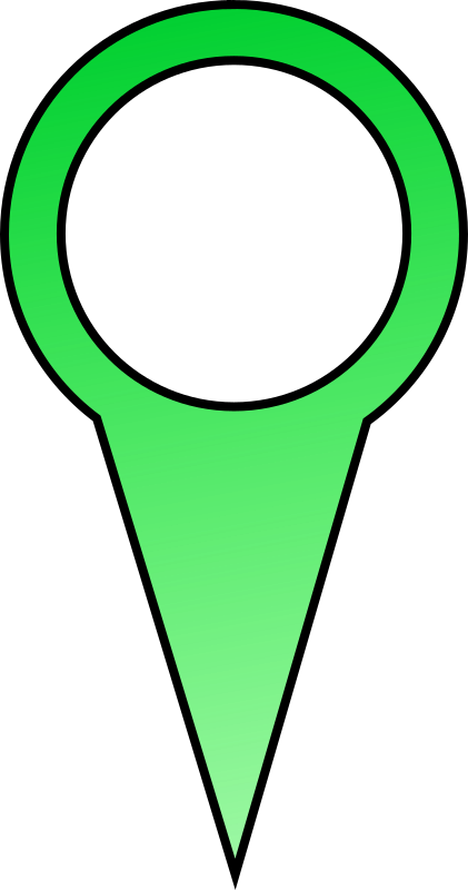 Green Map Pin by LukeL99 - Green Map Pin for Mapping Applications