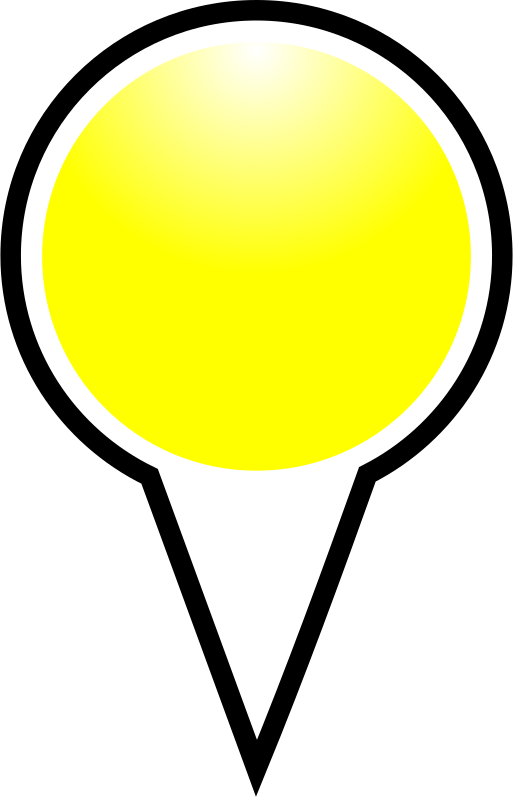 yellow pin clipart - photo #34