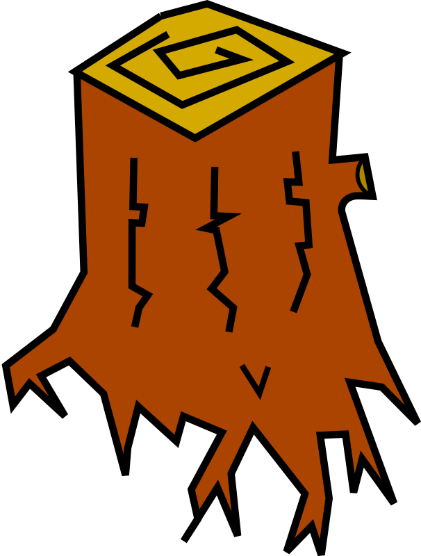 Stump (Color) by feraliminal - Angular, simplified tree stump.
