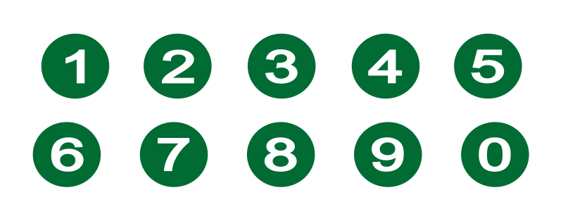 Numbers by gsagri04 - Green circle with Numbers