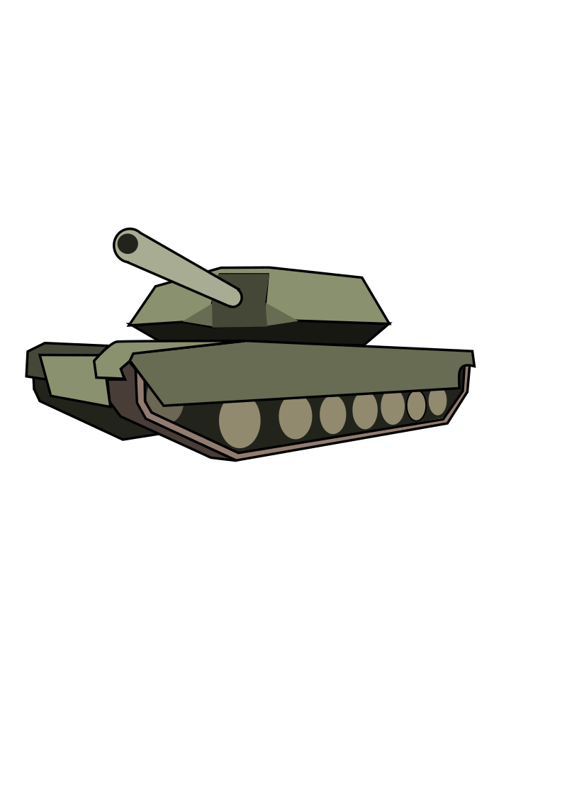 Tank by wildchief - A cartoon tank. Used for world of tanks clan site.