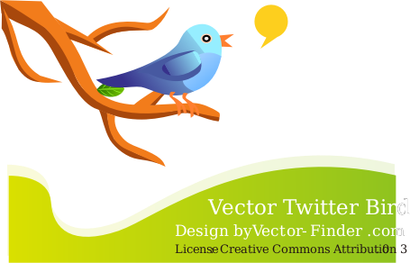 Free Vector Tweeting Bird by vector-finder - A bird tweeting on a branch