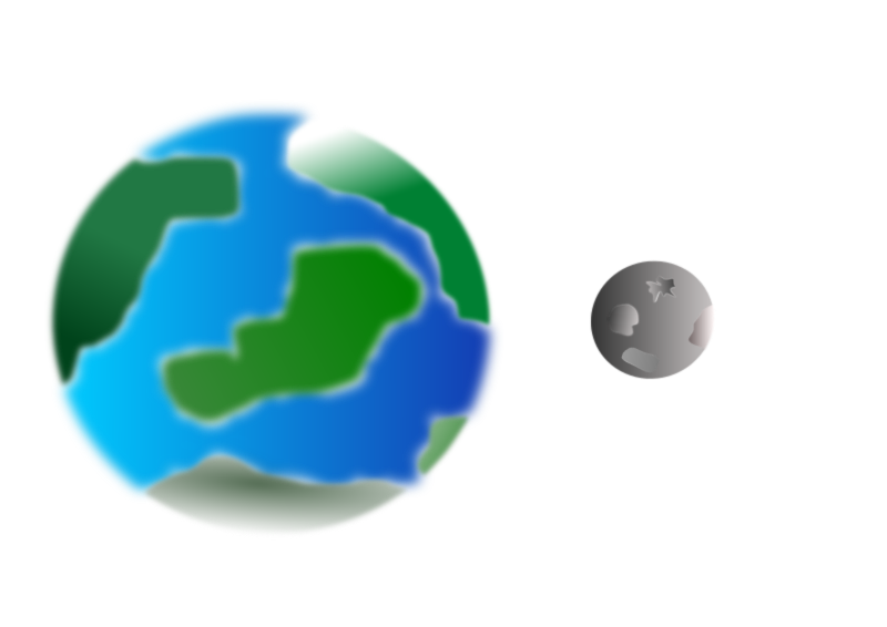 Planet with moon by cprostire - A planet similar to earth with a trabant like our moon.