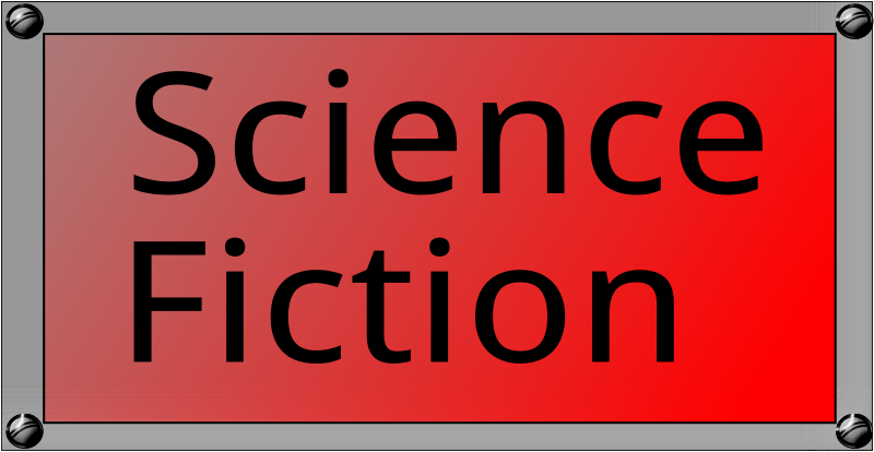 Science Fiction Button by algotruneman - One of a pair of Web page buttons, fantasy and science fiction