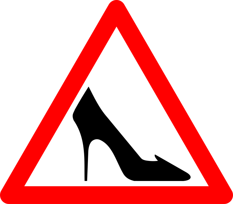 Shoe Traffic Sign by grin - Shoe traffic wign