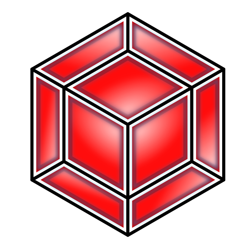 Hyper Cube, Red by bnielsen - A red hyper cube.