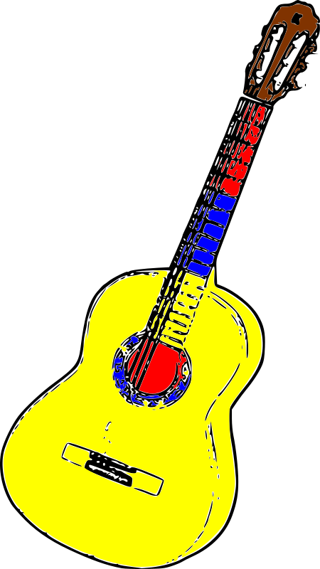 Guitarra Colombia by Lala Loaiza -