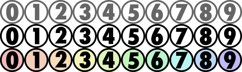 "Number icons for CSS slicing by darth_schmoo - Eye-pleasing set of numbers.  Google ""css slicing"" to see an ideal use for this sort of thing."