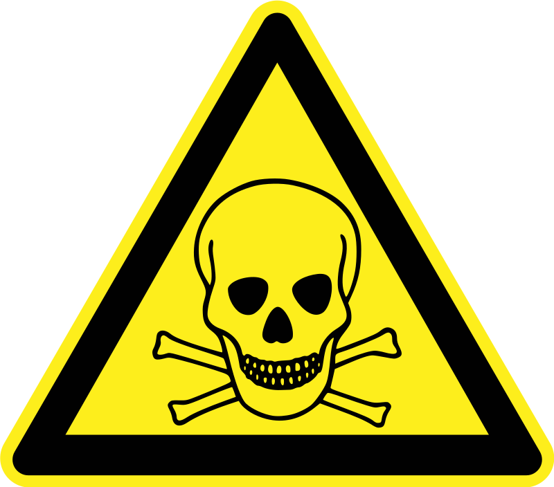 Toxic/Poison Warning Sign by h0us3s - Yellow triangular toxic / poison warning sign.