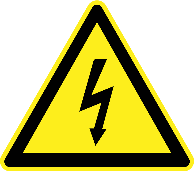 Signs Hazard Warning - Electricity by h0us3s - A triangular yellow warning sign for current / electricity.