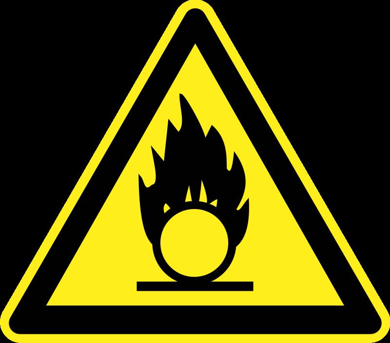fire hazard warning sign by h0us3s yellow triangular