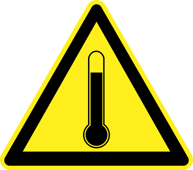 Temperature Warning Sign  by h0us3s