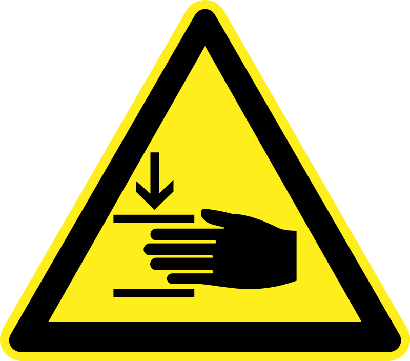 Signs Hazard Warning by h0us3s - Hazard warning sign - crushed hand.