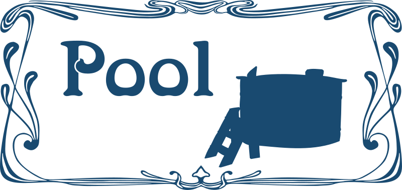 Pool sign by Moini