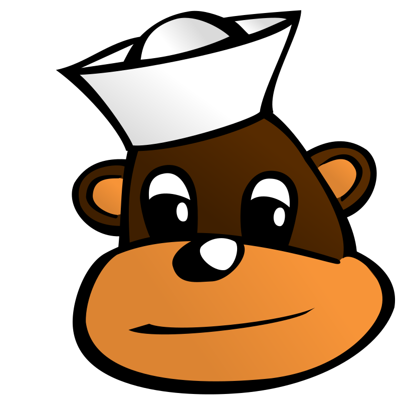 Sailor monkey by nicubunu - A monkey head with a sailor hat
