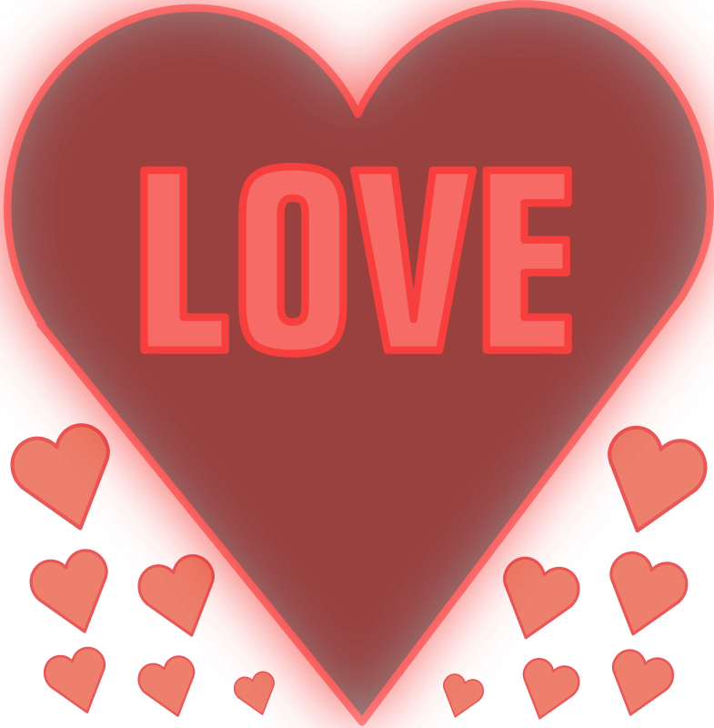 Love in a heart by mystica - A heart with the word LOVE... enjoy!    :-)